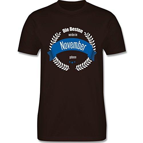 Geburtstag - Die Besten werden im November geboren - Herren Premium T-Shirt Braun