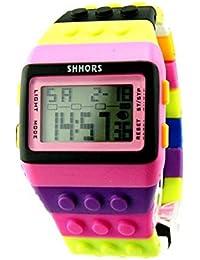 Longra♣♣2017 Fashional unisex colorido reloj digital
