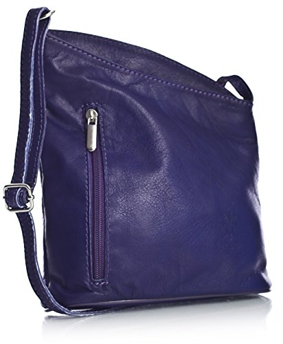 Big Handbag Shop, Borsa a tracolla donna One Viola (Medium Purple)