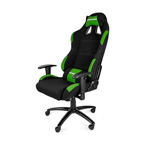 AKRacing K7012 – AK-7012-BG – Silla Gaming, Color Negro/Verde