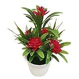 display08 Artificiali Fiore Lotus Finto Vaso pianta Bonsai Matrimonio Giardino casa Decor-Rosso