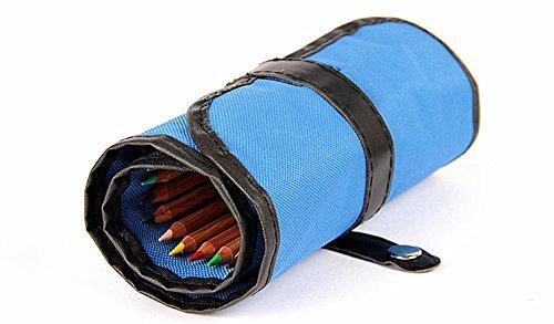 36 buche materiale tela tinta unita cintura fibbia matita pratico sacchetto alta qualità Piazza Students' Volume penna portatile lavabile semplice , 36 pieces of blue