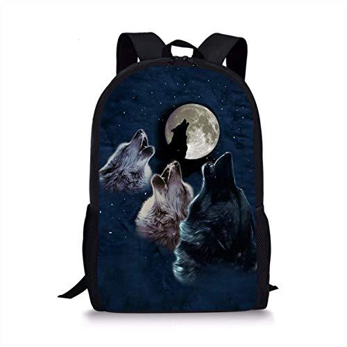 CVDGSAD Brüllender hungriger Wolf Einzigartige Outdoor Schultern Tasche Stoff Rucksack Mehrzweck Daypacks Für Erwachsene -