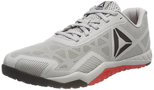 Reebok Ros Workout TR 2.0, Zapatillas de Deporte para Hombre, Gris (Stark Grey/Primal Red/Black 000), 42.5 EU