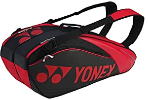 Yonex SUNR 9626TG BT 6 Badminton Kitbag, BT 6 (Black/Red)
