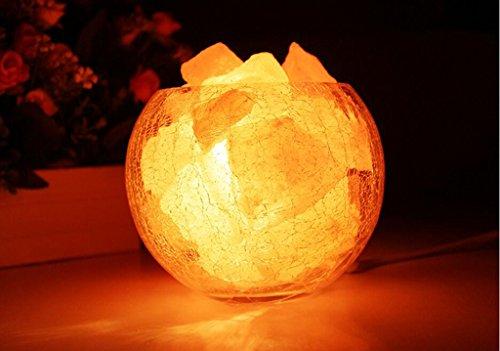 Lampada di sale dell'Himalaya cristallo 1.25kg installata decorazioni piccola lampada da tavolo da letto di nozze Lampada da comodino della luce di notte Regalo di compleanno ( colore : A ) - Ricevimento Di Nozze Tavolo Decorazioni
