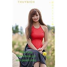 Charming Vietnamese girl with peach strip (Japanese Edition)