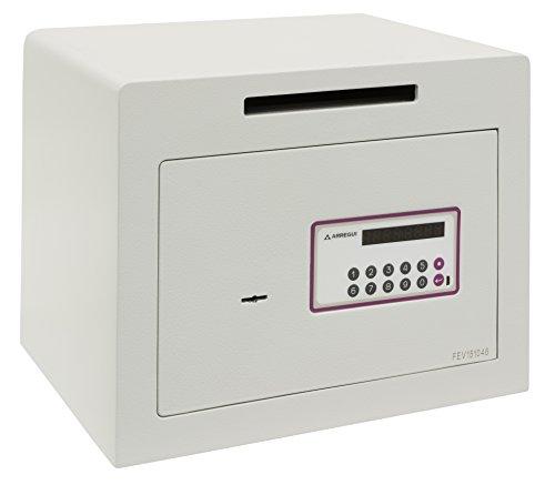 Arregui - Caja fuerte electrónica de sobremesa color beige claro metalizado