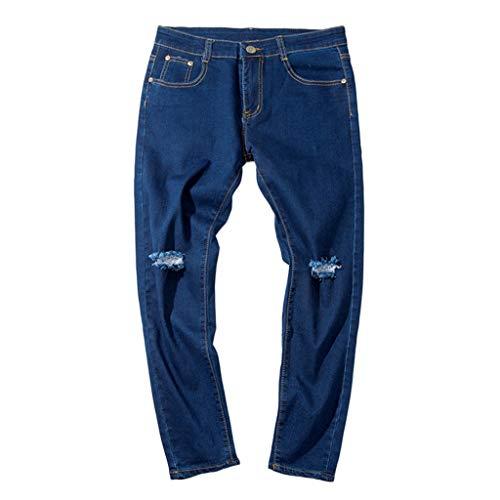Qinsling pantaloni da uomo, jeans da uomo pantaloni casual in jeans strappati pants pantaloni uomo elegante jeans uomo slim fit pantaloni sportivi uomo