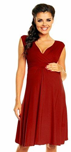*Zeta Ville Damen Schönes Umstandskleid Sommer Kleid Zum Stillen Geeignet 256c (Purpur, EU 38, M)*