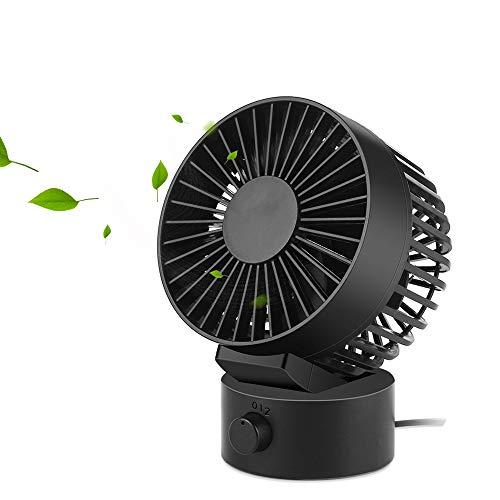 Ventilator USB, Kleiner Ventilator, Mini Lüfter Leichte Tischventilatoren Schreibtischventilator für Zuhause, Büro und Schule -