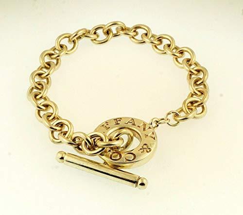 Tiffany Co. Armband Sterling-Silber 925 T-Verschluss 8 mm breit