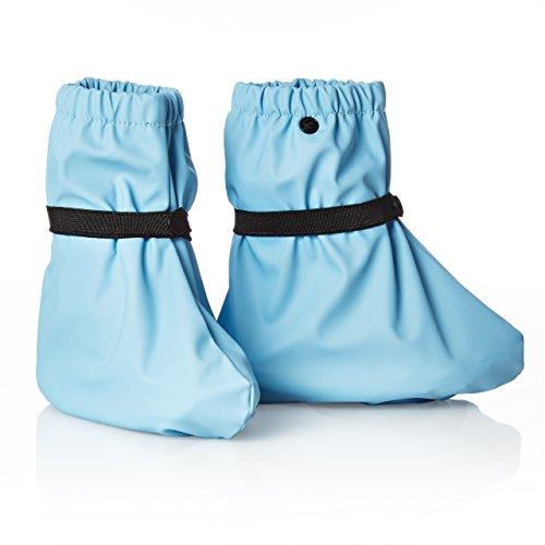 smileBaby Regenüberschuh Regenfüßling Regenschuh für Kinder und Babys wasserdicht in Hellblau S