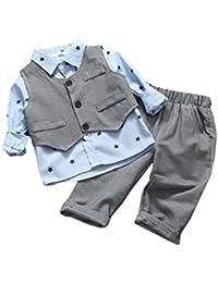 iBaste 3pcs Conjuntos de Niños Camiseta a mangas largas + Pantalones largos + Chaleco de color Gris de la Moda 2016 Nuevo