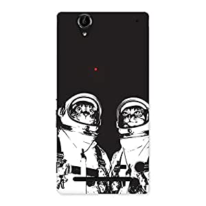 Cute Cat Astro Back Case Cover for Sony Xperia T2
