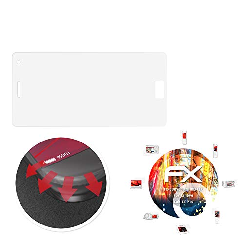 atFolix Schutzfolie passend für Lenovo Zuk Z2 Pro Folie, entspiegelnde & Flexible FX Bildschirmschutzfolie (3X)