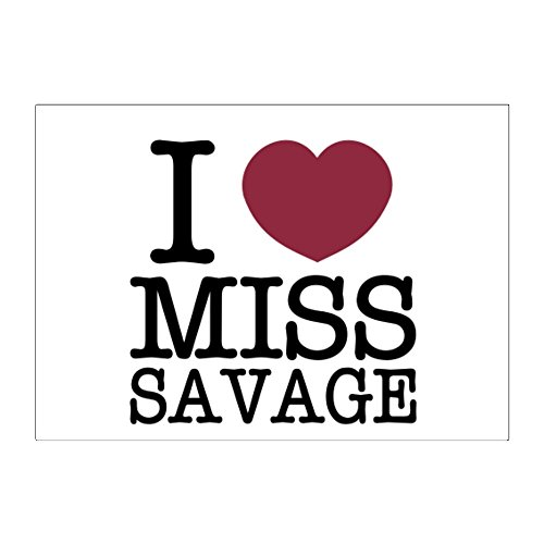 Teeburon I love Ms Savage Aufkleber Packung x4 -