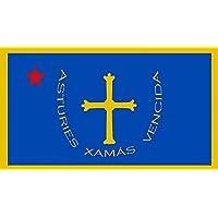 magFlags Bandera Large Asturias 1808 | Estrellada d Asturies de 1808 | bandera paisaje | 1.35