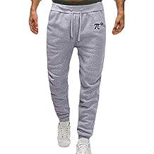 Pantalones Deportivos para Hombre SUNNSEAN Color Sólido Casual Simple Cómodo Ajustados al Aire Libre para Entrenamiento