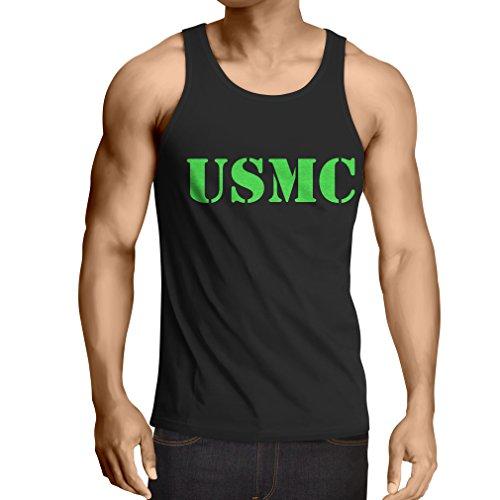 lepni.me Weste USMC Emblem, Marine Corps, Marines Logo, US Navy Armed Forces (Large Schwarz Grün) (Marine Corp Jersey)