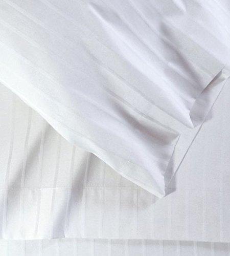 Contour Tabelle Luxury Collection Fadenzahl 1000Deep Pocket 4Bett Bogen Sets Weiche Collection King White Damask Stripe - White Stripe Kopfkissenbezug Set