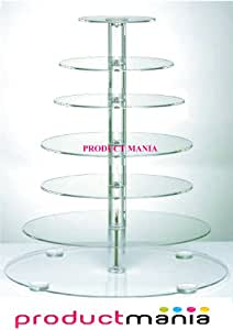 PRODUCT MANIA®7 TIER MAYPOLE PILLAR WEDDING,BIRTHDAY CUP CAKE TOWER CAKE STAND TOP QUALITY