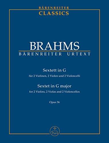 Sextett für zwei Violinen, zwei Violen und zwei Violoncelli G-Dur op. 36. Studienpartitur, Urtextausgabe