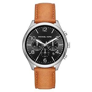 Michael Kors Reloj Cronógrafo para Hombre de Cuarzo con Correa en Cuero