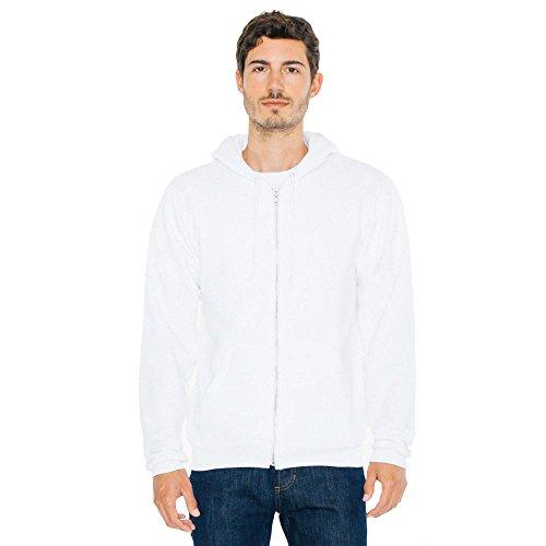 American Apparel - Unisex Flex Fleece Zip Hoodie White
