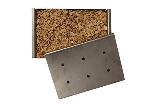 SMOKE BOX FOR BBQ,USE THIS BOX FILLED WITH WOOD CHIPS TO ADD THAT DELICIOUS SMOKY TASTE TO YOUR FOOD,SUPPLIED WITH A GENEROUS AMOUNT OF WOODCHIPS TO GET YOU GOING.SENT FROM UK STOCK FOR FAST DELIVERY!!