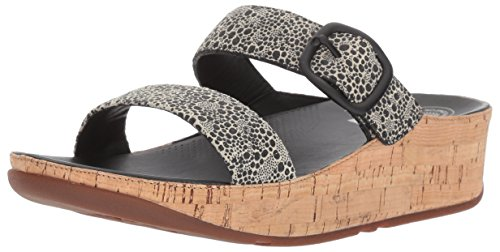 Fitflop Women's Stack Slide Sandal, Black