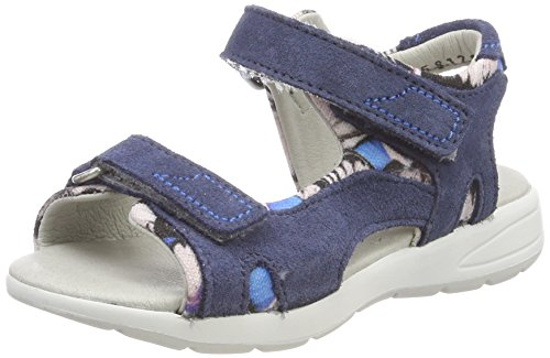 Däumling Mädchen Cora Offene Sandalen, Blau (Turino Jeans), 34 EU (Leder Sandale Denim)