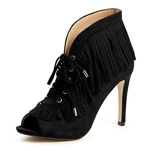 topschuhe24, Scarpe col tacco donna Nero (nero)