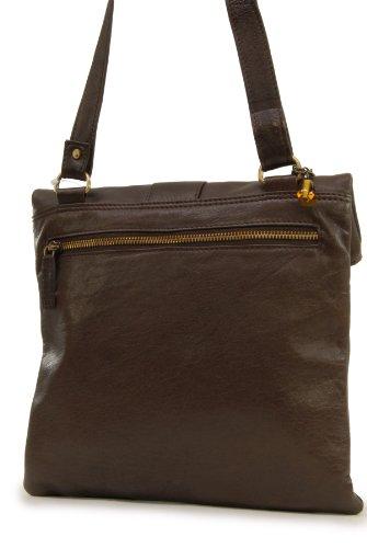 Catwalk Collection Handbags, Borse tascapane, Donna Marrone (Braun)