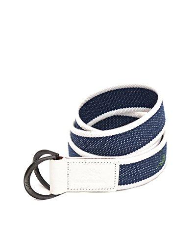 LA MARTINA cintura in corda tessuto e pelle made in Italy