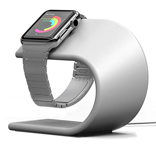 Apple Watch Stand, PUGO TOP iWatch acrilico Confortevole ed Elegante Charging Stand per Both 38mm and 42mm Apple Watch in Sport, Basic and Edition Models