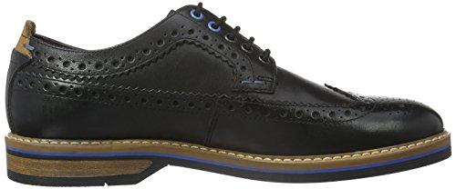 Clarks Pitney Limit, Scarpe Stringate Basse Oxford Uomo Nero (Black Leather)