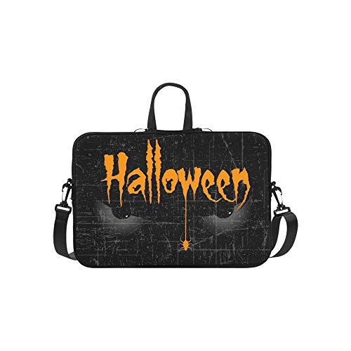 Scary Halloween Eyes Kreative Text Halloween Aktentasche Laptoptasche Messenger Schulter Arbeitstasche Crossbody Handtasche Für ()
