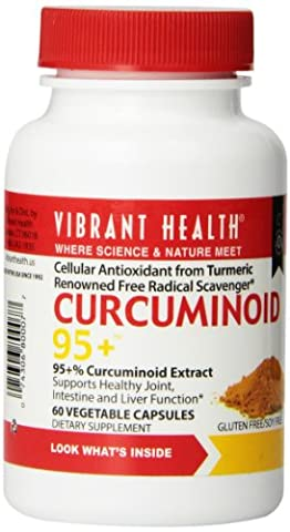 Vibrant Health, Curcuminoid - 95+, 250 mg, 60 Veggie Caps