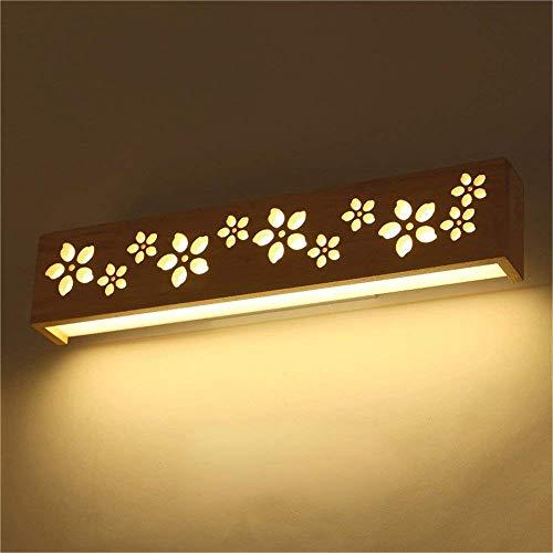 LED Massivholz Wandleuchte Nordic Wood Nachttischlampe Schlafzimmerleuchten Bad Kosmetikspiegel Scheinwerfer (Muster: Sakura Modelle) -