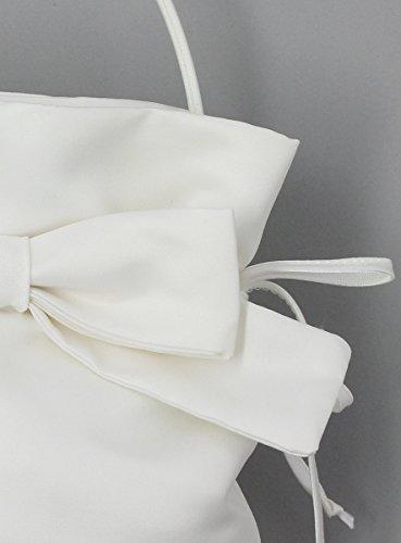 Tasche Brautschmuck mit Schleife Ivoire - Ecru