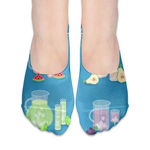 CVDGSAD Summer Fresh Juice Women's Polyester Cotton Socks Ladies Boat Socks Deodorant Boat Socks Thin Section Casual Socks Low Breast Socks