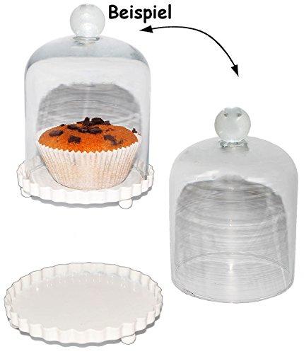 Käse-vitrine (alles-meine.de GmbH 1 Stück _ Glasglocke -  klein  - mit Metall Boden - Deko / Muffin - Süßigkeiten - Präsentationsglocke - Schauglas - Glasplatte / Glashaube / Patisserie - Ku..)