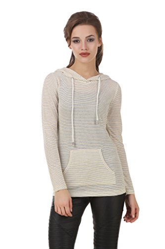 Texco Off White Embelished Stripe Winter Top