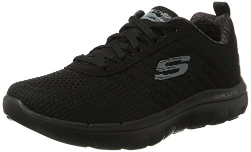 Skechers Men Flex Advantage 2.0 Multisport Outdoor Shoes, Black (Bbk), 12 UK 47 1/2 EU