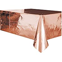 Ayush party Foil Rose Gold Plastic Tablecloth