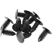 Remaches - TOOGOO(R) 10 Piezas 6mm Diametro Del Orificio Remaches De Plastico Cierre Defensa Parachoques Clips De Empuje Negro