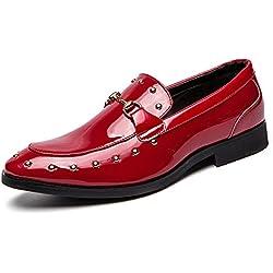 Hombres Mocasines Vestido Zapatos de Boda Zapatos de la Moda de la luz Slip en Zapatos Ocasionales Zapatos de Oficina Suave