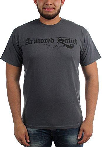 Armored Saint-La Raza-Maglietta da uomo Grigio Large