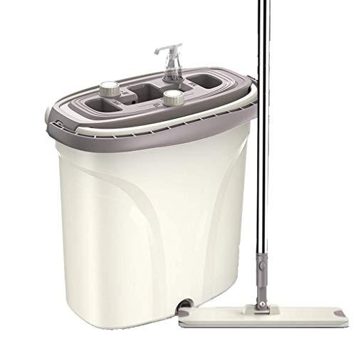 Cxjff Moppfreies Händewaschen Haushalt eins for das Netto Flache nasse und trockene Haushalts-Mopp-Eimerset